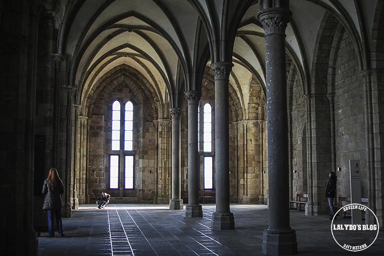 salle des hotes abbaye mont saint michel lalydo blog
