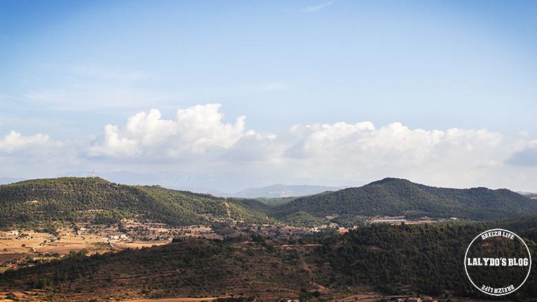 chateau de cardona vue montagnes lalydo blog